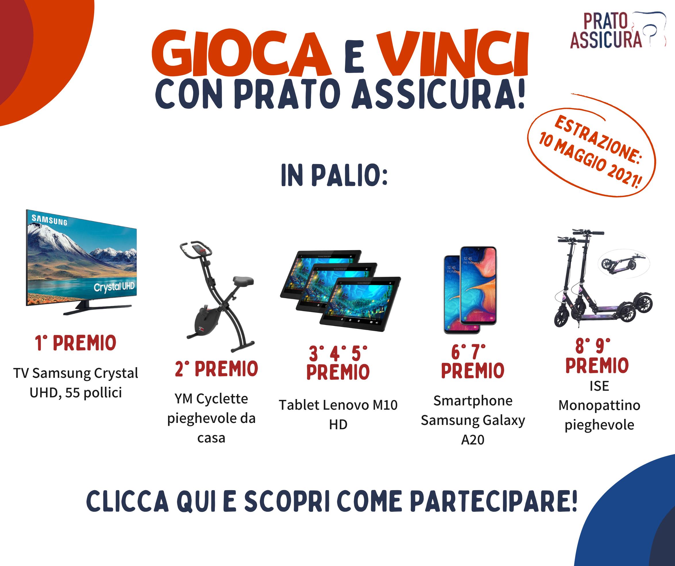 Gioca e Vinci con Prato Assicura: partecipa alla nostra lotteria gratuita